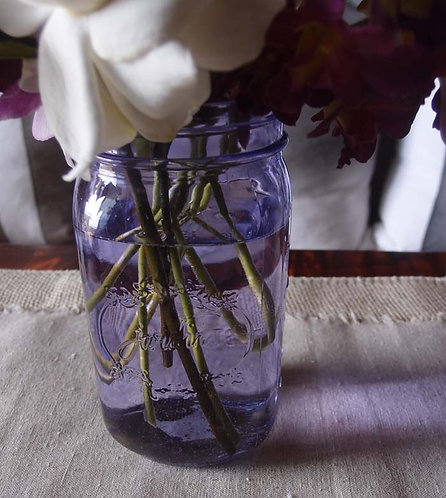 6-pack of purple mason jars