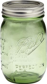 6-pack of green mason jars