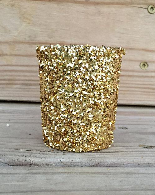 12 Pack of gold Glitter votives