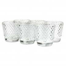 Clear Textured Votives 6-pack