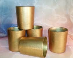 12 Pack of gold votives