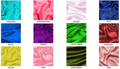 Satin Fabric Bright and Boltd Colors