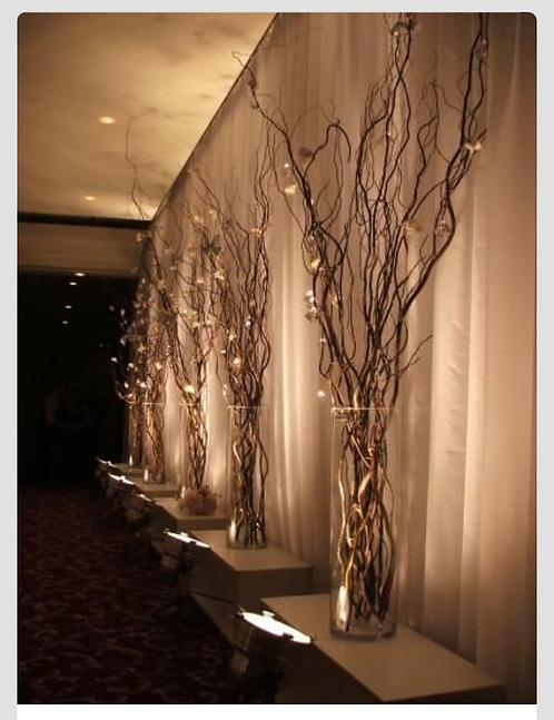 1 set of 5 lighted branches
