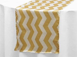Satin Chevron Table Runners