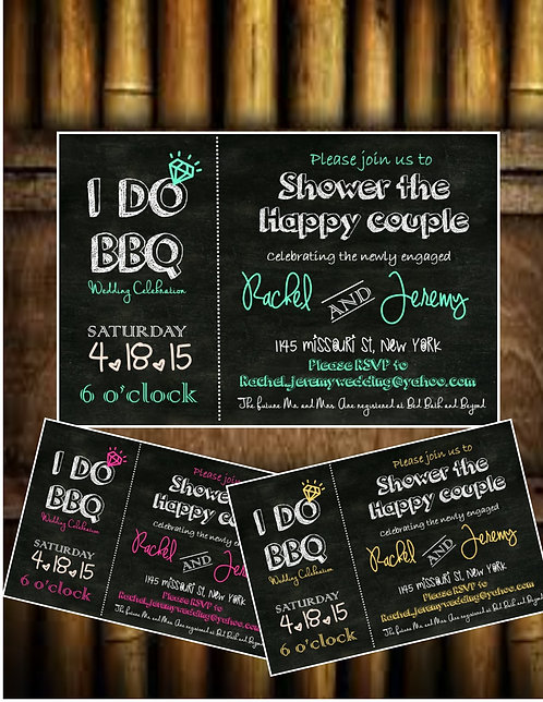 I do BBQ Wedding Shower Invite