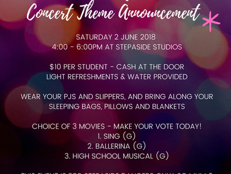 Concert Theme Release and Movie Night