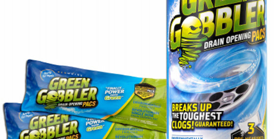 Green Gobbler Drain Opener Packs, 3 pack
