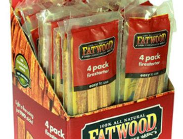 Fatwood Firestarter Stick, 4-pack