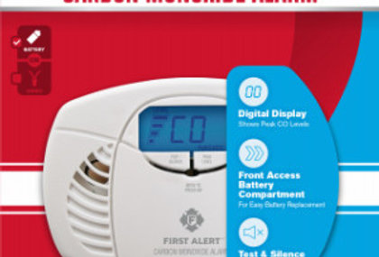 First Alert Battery Operated Carbon Monoxide Alarm with Backlit Digital Display