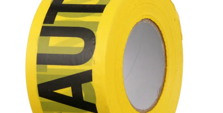 """Caution"" Tape, Yellow, Waterproof, 1,000-Ft."