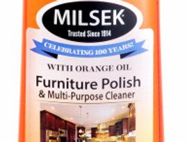 Milsek 12oz Orange-Scented, Oil Furniture Polish & Multi-Purpose Cleaner