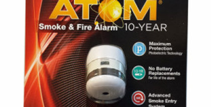 First Alert Atom Smoke & Fire Alarm, 10-Year