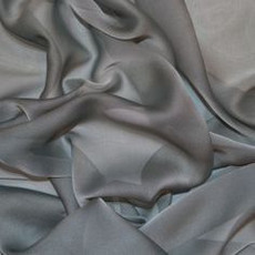Two-Tone Chiffon Charcoal Grey-Ceiling Drape
