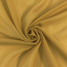 Two-Tone Chiffon Dark Gold-Ceiling Drape