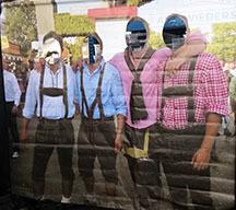 Oktoberfest German- face cut out