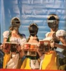 Oktoberfest Barmaids-face cut out