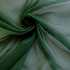 Two-Tone Chiffon Ivy Green-Ceiling Drape