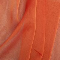 Two-Tone Chiffon Orange-Ceiling Drape