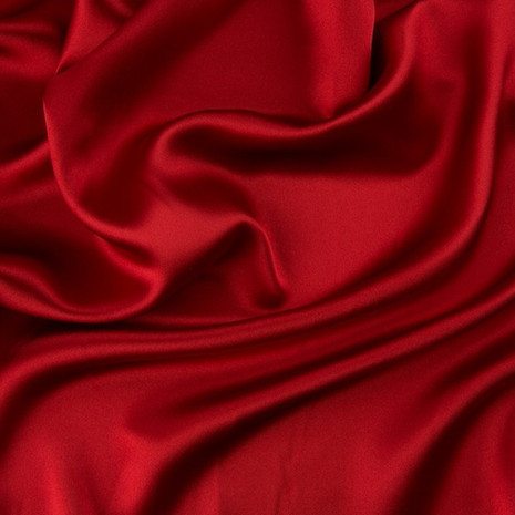 Charmeuse Satin Red-Ceiling Drape