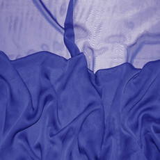 Two-Tone Chiffon Royal Blue-Ceiling Drape