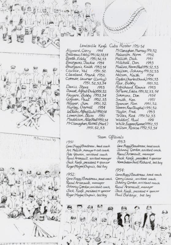 Lewisville Keefe Cubs 1951–1954 fr