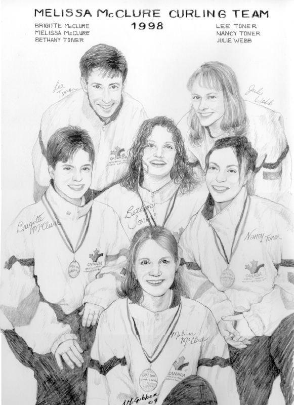 Melissa McClure Adams Curling Team fr