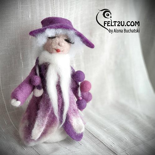 Girl Felted wool Collectible handmade figure