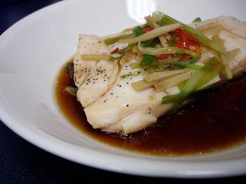 Chilean Sea Bass w/Ginger Scallion Sauce