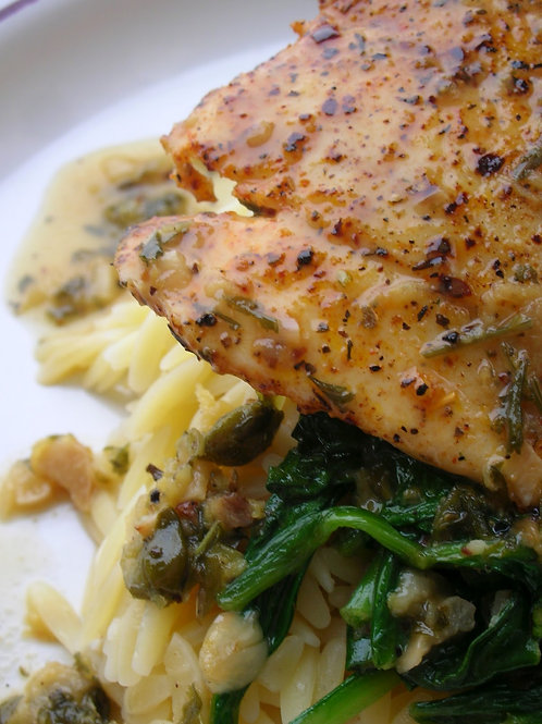 Blackened Red Fish  w/Lemon Caper Butter