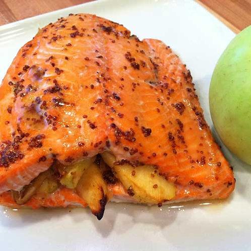 Apple Stuffed Salmon w/Citrus Butter Sauce