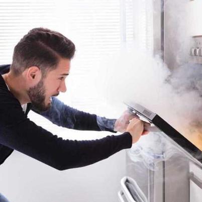Smoking, Choking Dirty Ovens