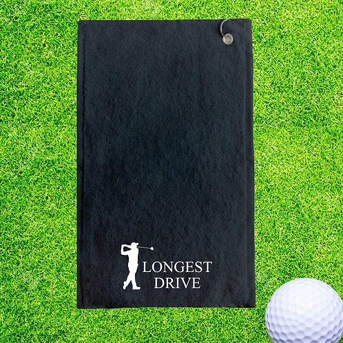 Longest Drive Personalised Golf Towel