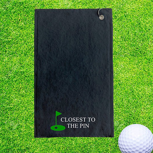 Closest To The Pin Personalised Golf Towel