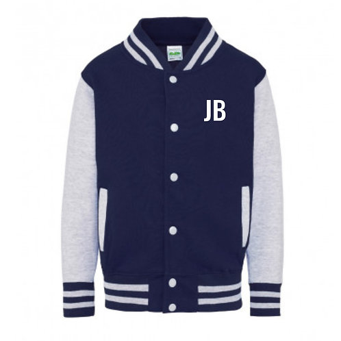Personalised Varsity Zip Sweat Navy & Grey