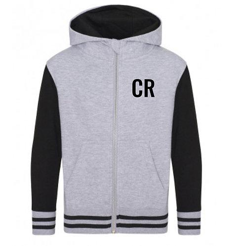 Personalised Varsity Hoodie Grey & Black