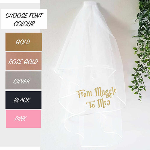 Harry Potter Inspired Personalised Veil