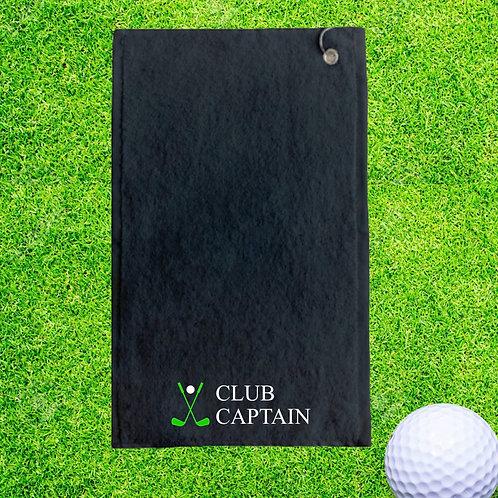 Club Captain Personalised Golf Towel