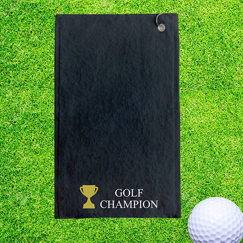 Golf Champion Personalised Golf Towel