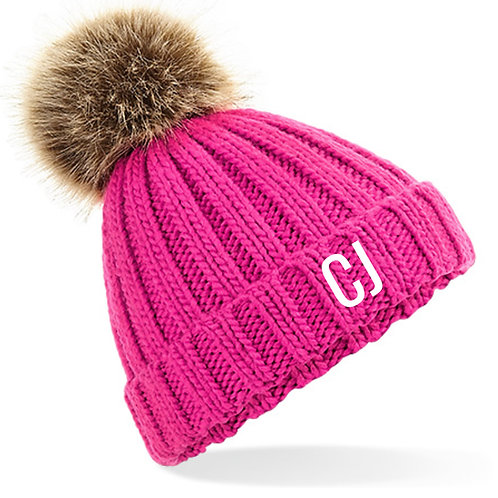 Personalised Bobble Hat Pink
