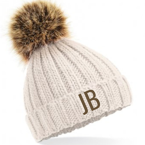 Personalised Bobble Hat Cream