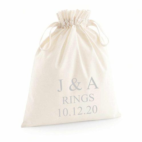 Personalised Mini Ring Bag