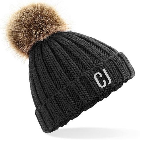 Personalised Bobble Hat Black
