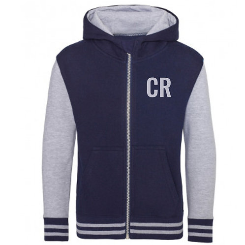 Personalised Varsity Hoodie Navy & Grey