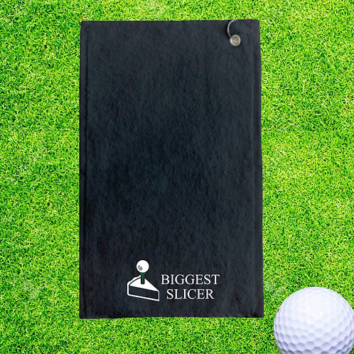 Biggest Slicer Personalised Golf Towel