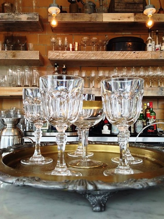 Antique glassware Olio