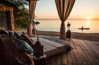 Top sights in Malawi Africa - beautiful sunset hotel view