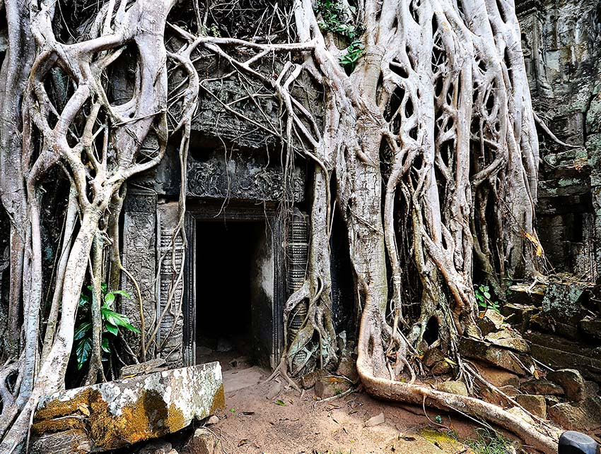 Top cultural travel locations - temples of Angkor Wat by bike, ATV and rickshaw in Southeast Asia, Cambodia