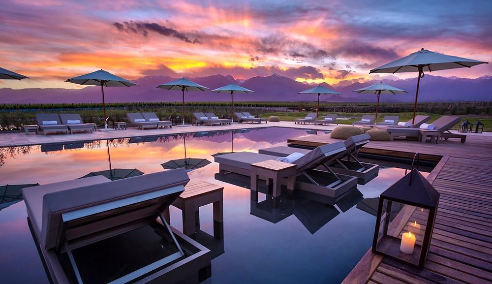 Exotic Honeymoon Destinations - Argentina & Uruguay - romantic sunset, luxury resort