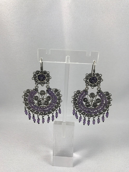 Arracada Grande de filigrana en plata/Silver filigree earrings