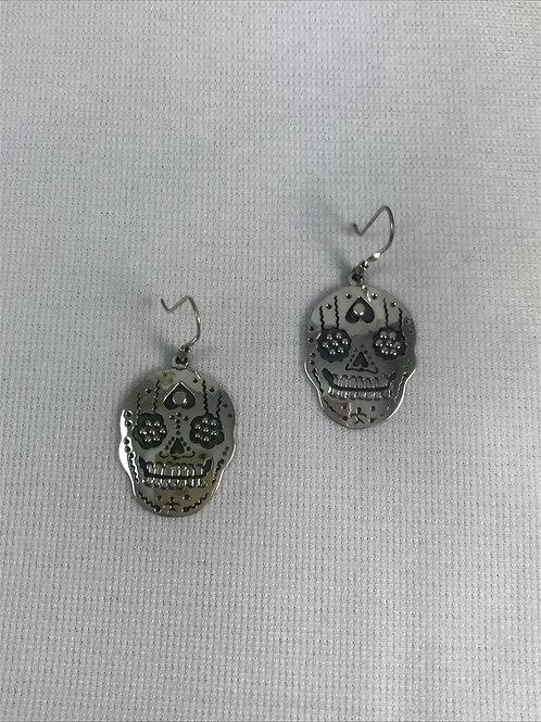 Aretes Calavera / Skull Earrings Plata Sterling .925